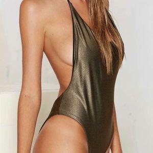 Metallic Dipped in Gold Bodysuit